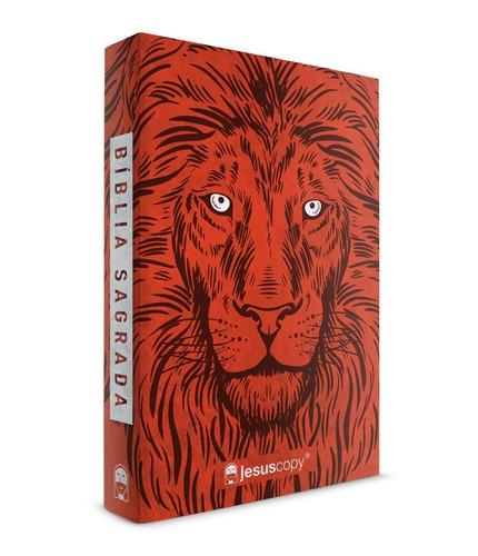 bíblia jesus copy leão vermelho - capa mole