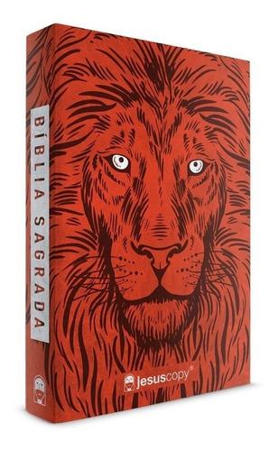 bíblia jesuscopy leão vermelho - capa dura naa novidade