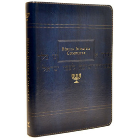 Bíblia Judaica Completa - Luxo Onetone Azul