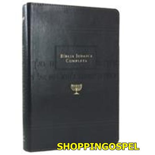 bíblia judaica completa luxo couro preta editora vida