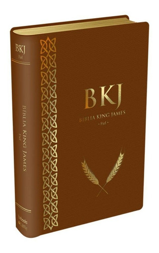 bíblia king james fiel 1611 tamanho médio luxo marrom