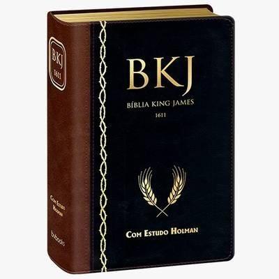 bíblia king james fiel - com estudo holman preta - caixa