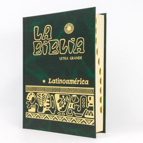 Biblia Latinoamericana Letra Grande Con Uñeros (verde