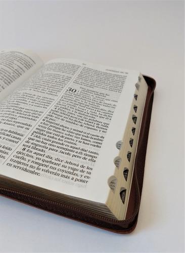 biblia letra gigante cierre e indice café reina valera 1960