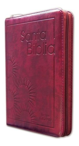 biblia letra gigante con cierre bordo reina valera 1960