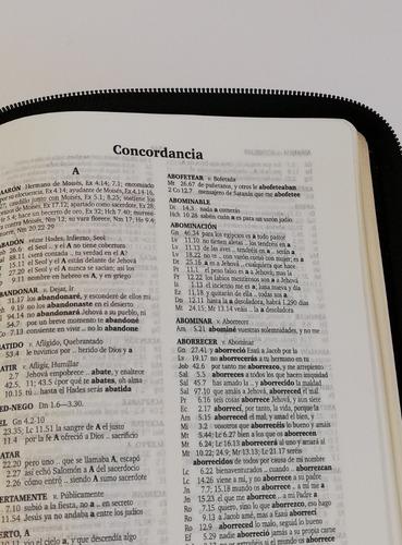 biblia letra grande cierre bolsillo y rojo reina valera 1960