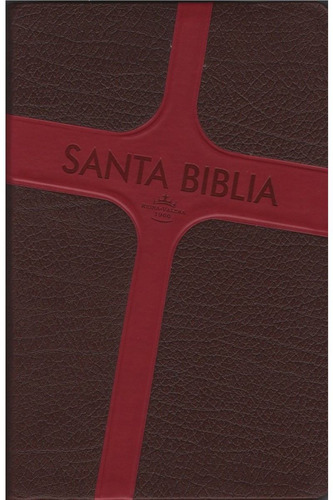 biblia letra grande imitacion piel café cruz rvr60 envio