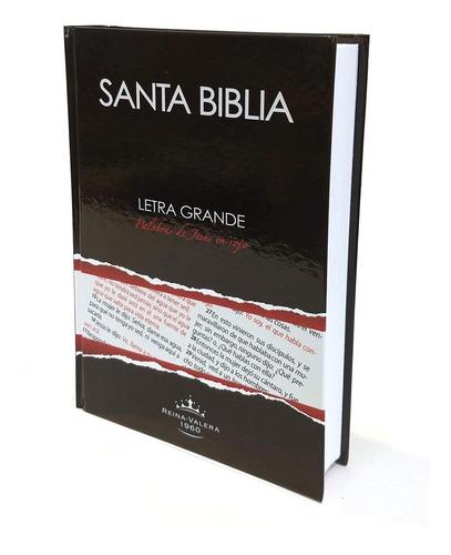 biblia letra grande palabras jesús en rojo reina valera 1960