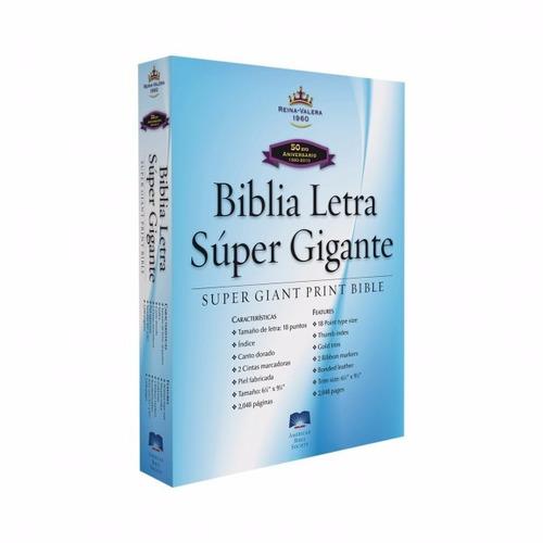 biblia letra super gigante piel negro índice reina valera 60