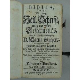 Biblia Luterana 1763 Antigo E Novo Testamento Em Alemão