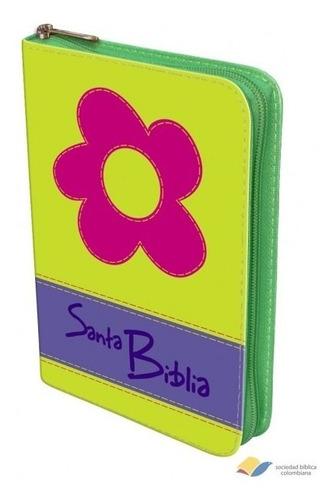 biblia manual troquel verde flor version reina valera 1960