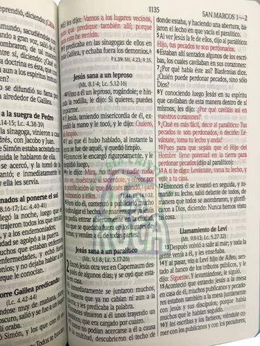 biblia mediana letra grande palabras jesús en rojo envío