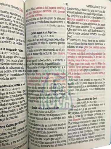 biblia mediana letra grande palabras jesús en rojo rvr 1960