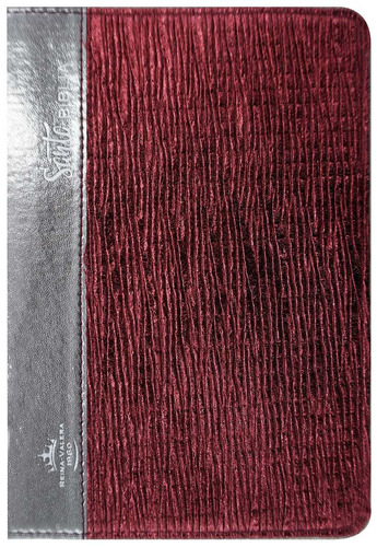 biblia mediana letra grande roja arte pe reina valera 1960