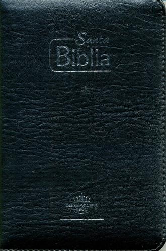 biblia misionera con forro y cierre reina valera 1960 negra