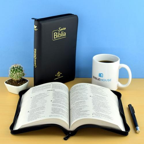 biblia misionera reina valera 1960 - negra con forro
