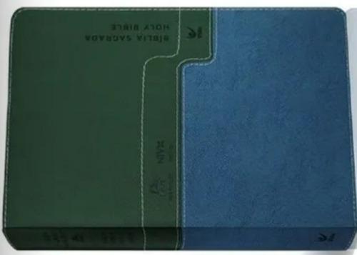 bíblia nvi bilingue - português inglês capa luxo
