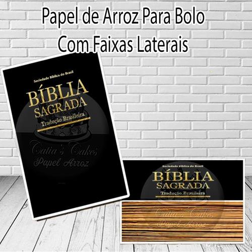 bíblia papel arroz para bolo e faixa lateral