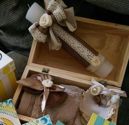 biblia personalizada (juego con vela) incluye caja de madera