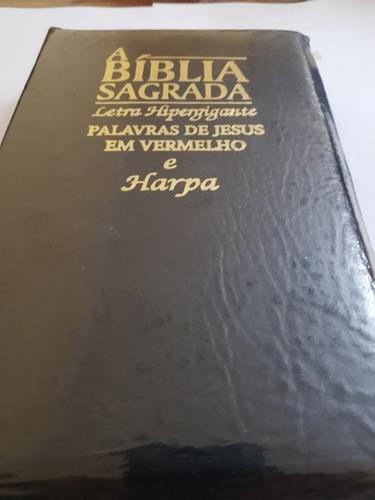 biblia preta letra hiper gigante ziper harpa cristã índice