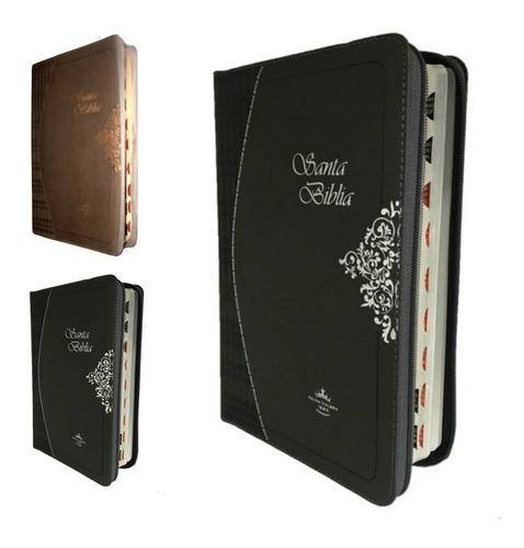 biblia reina valera 1960, mediana, 22x16 cm, cierre, indice