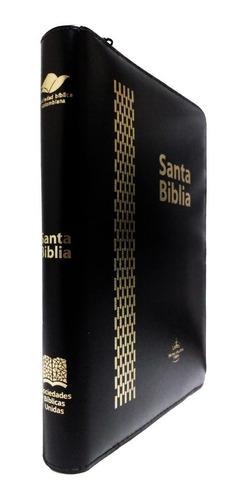 biblia reina valera 60 negra letra gigante índice y cierre