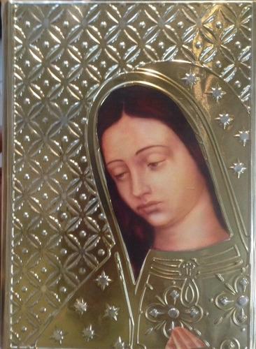 biblia repujado virge guadalupe 23cm x 17cm