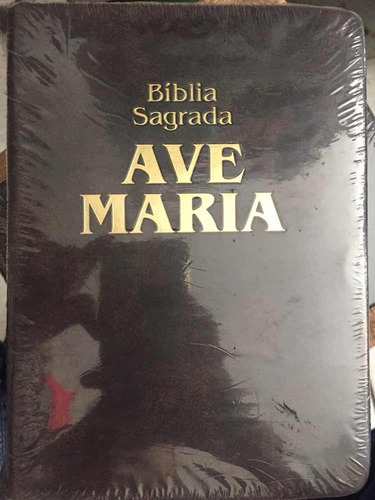 bíblia sagrada ave maria - c/ zíper