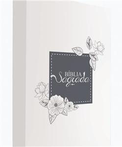 bíblia sagrada capa flor branco nvi