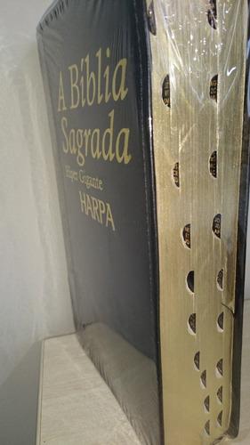 bíblia sagrada com harpa letra hipergigante com índice rc