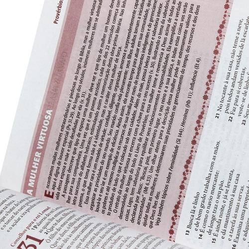 bíblia sagrada de estudo  da mulher várias capas