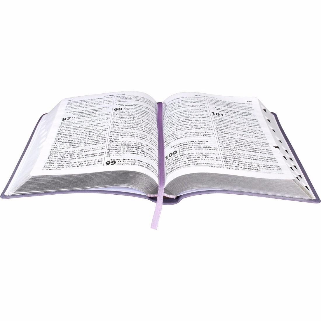 Biblia Sagrada Feminina Evangelica Grande Com Indice Violeta R 59 90 Em Mercado Livre