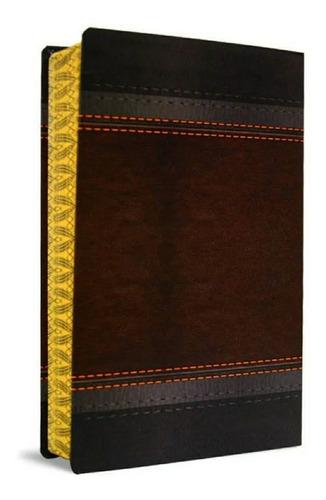 bíblia sagrada harpa avivada - letra gigante marrom laminado