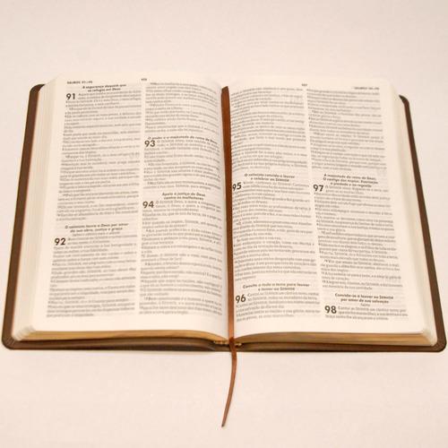 bíblia sagrada harpa cristã fina slim preta luxo