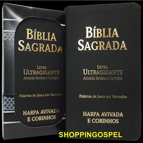 bíblia sagrada harpa revista e corrigida letra ultra gigante
