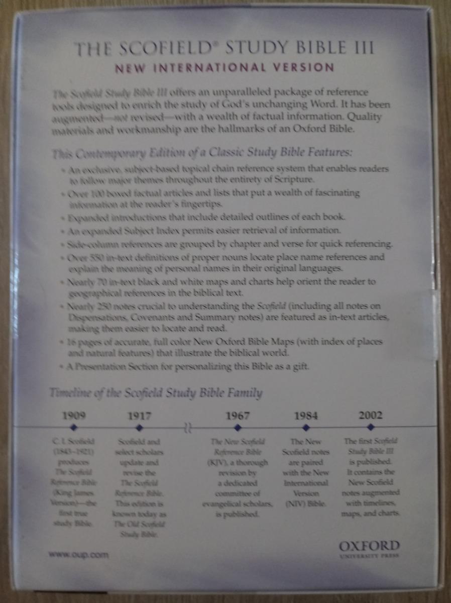 Bíblia Sagrada Holy Bible Oxford Scofield Study Bible Niv