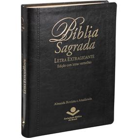 Bíblia Sagrada Letra Extragigante Ra 17x23 Índice Cor Preta