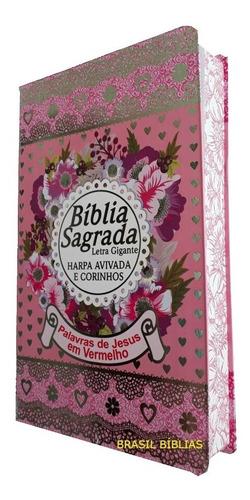bíblia sagrada letra gigante 2 unidades masculina / feminina