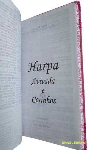 bíblia sagrada letra gigante com harpa edição luxo