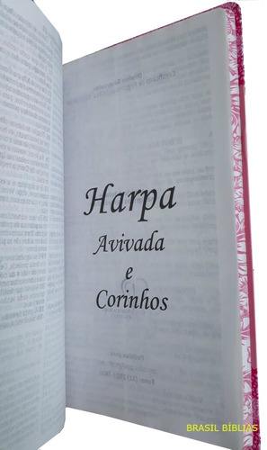 bíblia sagrada letra gigante com harpa kit com 6 unidades