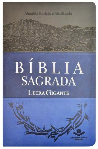 bíblia sagrada letra gigante - revista e atualizada - luxo