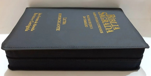 bíblia sagrada letra hiper gigante ziper e harpa + índice