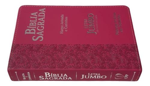 bíblia sagrada letra jumbo com harpa revista corrigida
