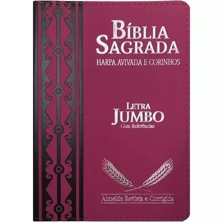 bíblia sagrada letra jumbo luxo harpa pink palavras vermelho