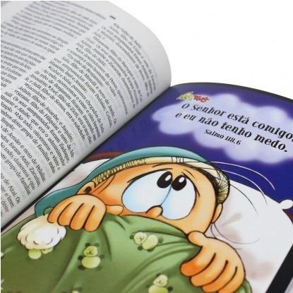 bíblia sagrada letra maior fonte de bênçãos mig & meg menino