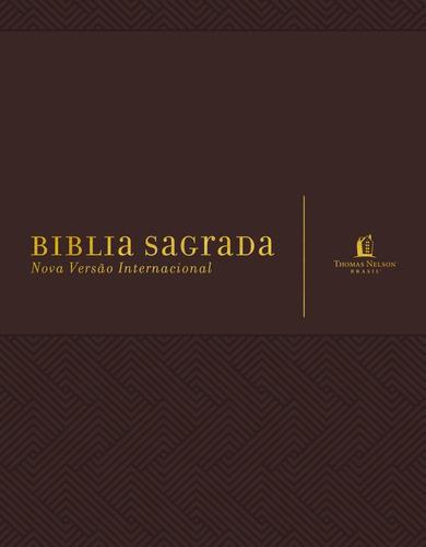 bíblia sagrada  marrom  nvi  espaço para anotações