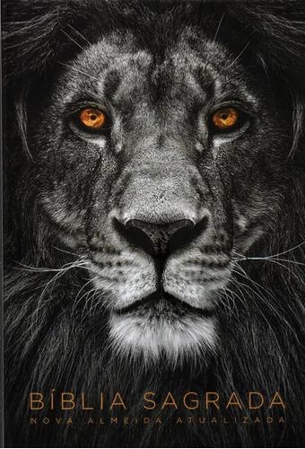 bíblia sagrada naa média capa dura leão cinza sankto