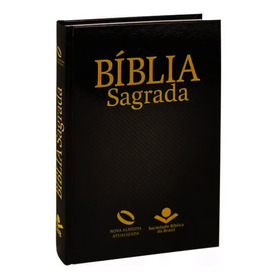 Bíblia Sagrada Nova Almeida  Atualizada Sbb Capa Dura Preta
