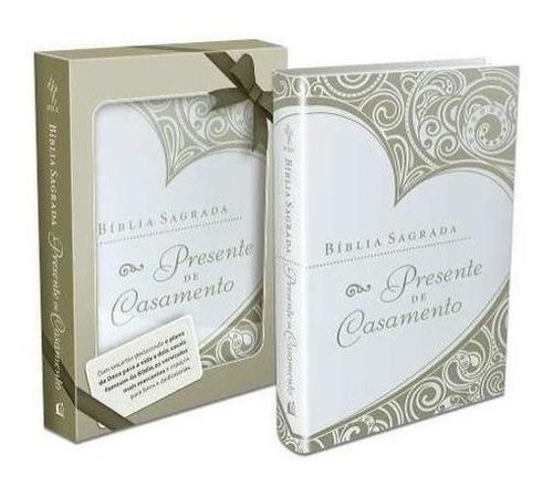 bíblia sagrada presente de casamento thomas nelson dourada