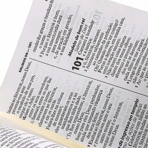 bíblia sagrada revista e atualizada com letra gigante branca